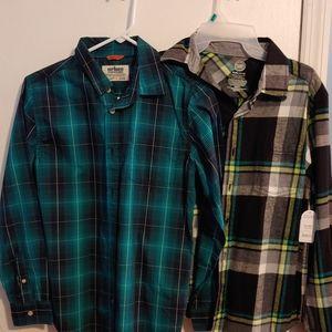 Boys Flannel Shirt Bundle One NWT